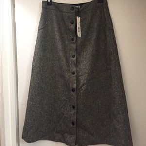 Alice & Olivia Tweed gray skirt